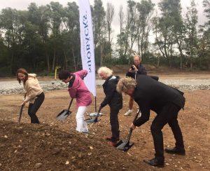 Första spadtag Björkenäspark